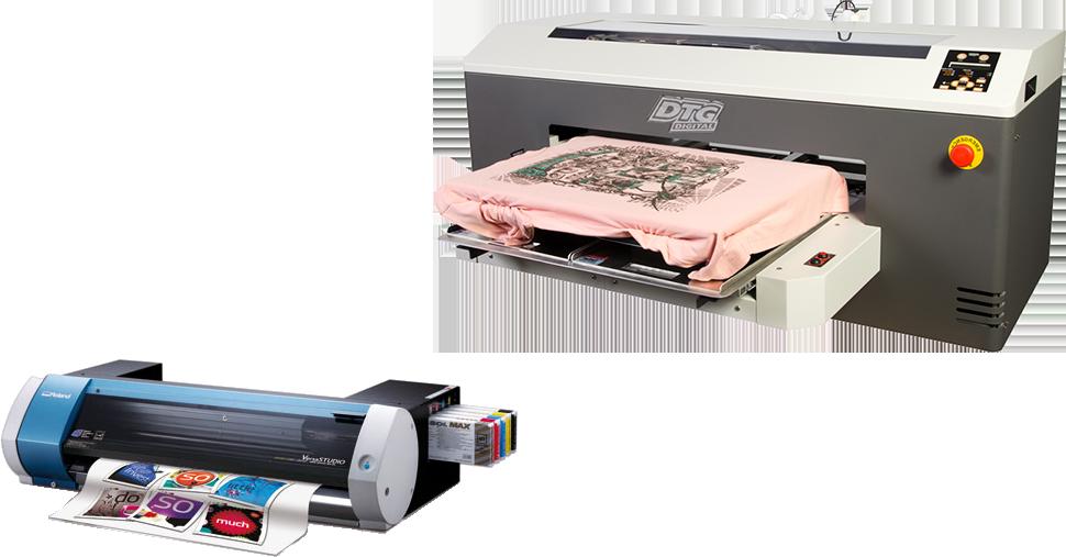 Machine a Impression numerique DTP et Machine a Impression et découpe